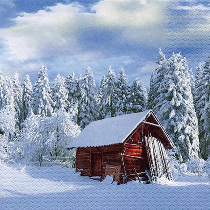 ti-flair Servietten Winterlandschaft, Schnee